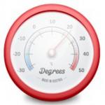 Macのメニューバーにスマートに天気を表示してくれる「Degree」がカッコイイ!無料だし。