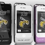 65万ボルトのスタンガン付きiPhoneケース「Yellow Jacket」