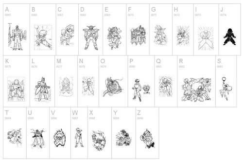 Dragon Ball Font 2