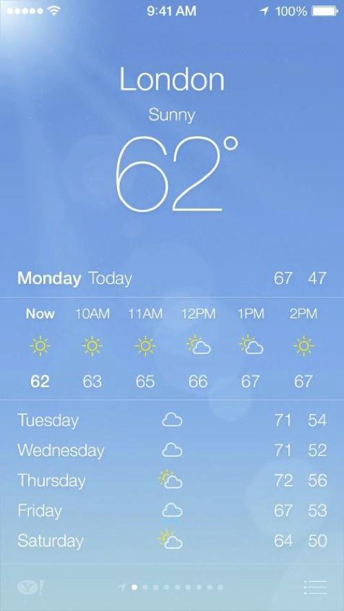 IOS7 weather 2