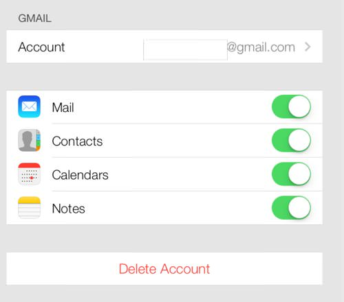 Ios7 google contacts