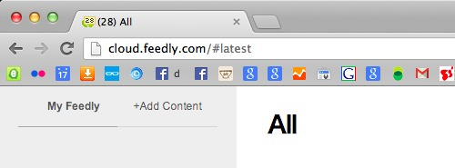 Feedly Unread Count in Favicon and Title Bar