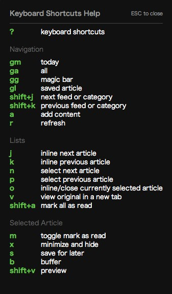 Feedly shortcut
