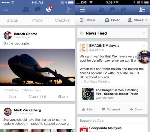 Ios7 facebook
