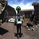 富士山もストリートビューで見れるようになる?富士山山頂で撮影している現場が目撃される!