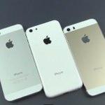 iPhonr5SのシャンパンゴールドとiPhone5Cのホワイトを撮影した高画質動画が公開されています