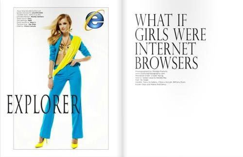 Webbrowser fashionmodel 1