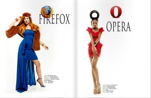 Webbrowser fashionmodel 2