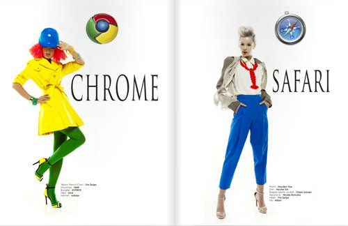 Webbrowser fashionmodel 3