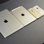 「iPhone 5S」「iPhone 5C」「iPad 5」「iPad mini 2」を並べて比較している画像が公開