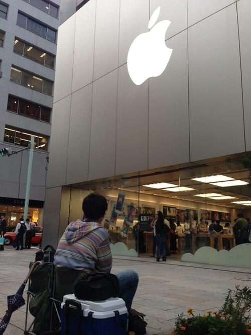 Iphone5s 5c apple store ginza