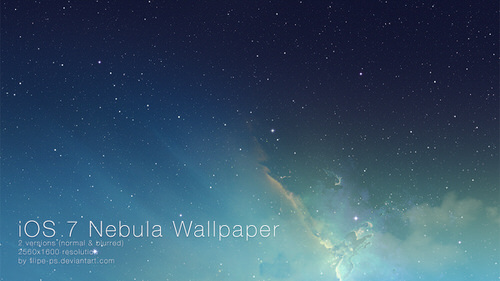Ios 7 nebula wallpaper by filipe ps d69s61h