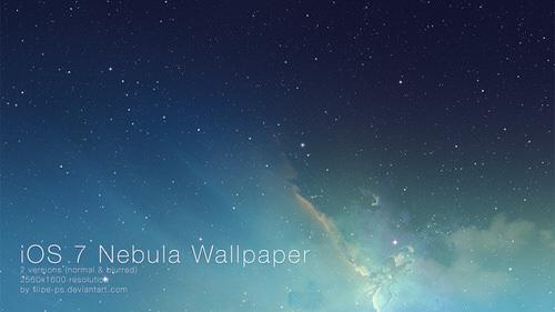 Ios 7 nebula wallpaper by filipe ps d69s61h