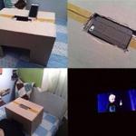 この発想はなかったw iPhoneと段ボールで自分だけの映画館を作った画像が話題