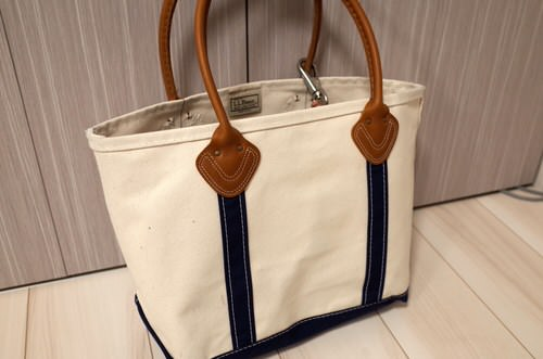 Llbean leather handle tote 1