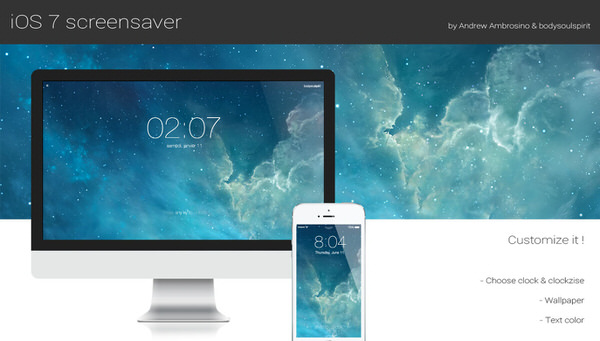 Macapp ios7 like screensaver 1