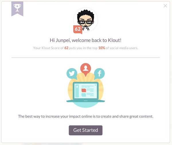 Webservice klout suggest 1