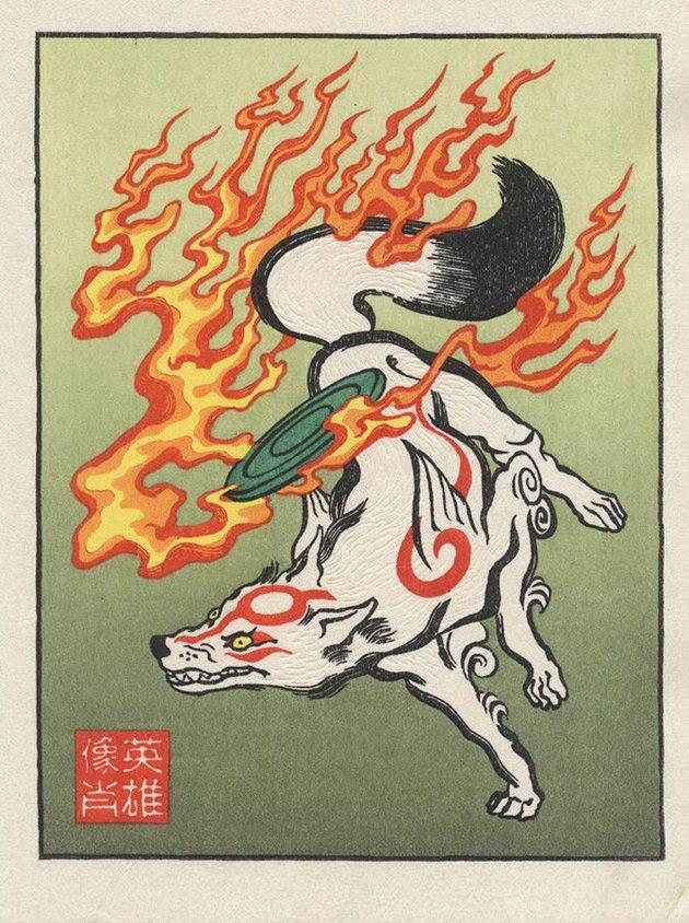 浮世絵 犬神