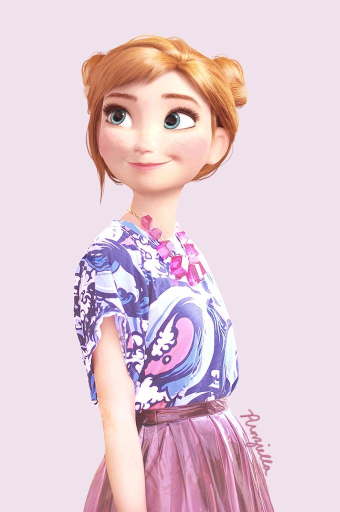 Disney real frozen anna