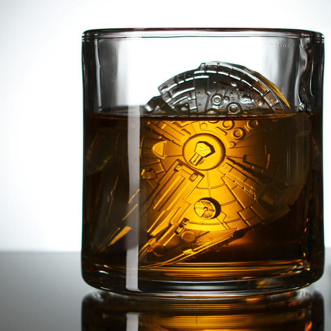 Ebf9 millennium falcon ice cube tray glass