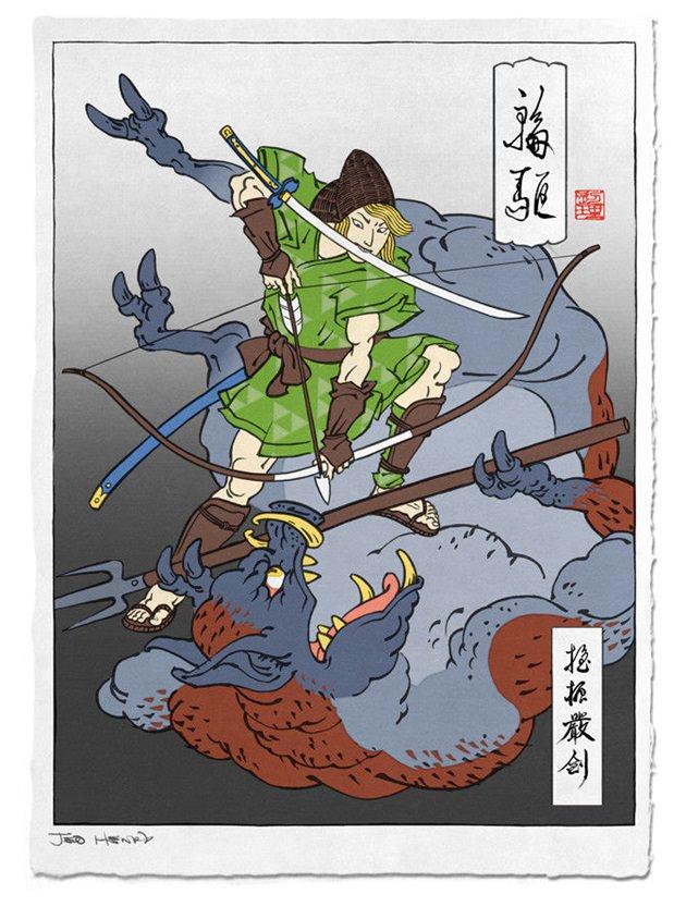 浮世絵 ゼルダの伝説 1