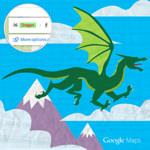 Googleマップの移動手段に「ドラゴン」が出現するということが発覚!
