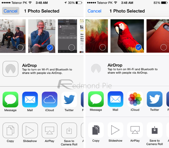 IOS 7 8 Visual Comparison 11