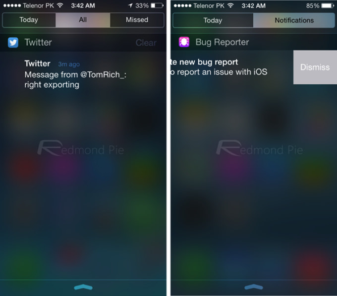 IOS 7 8 Visual Comparison 5