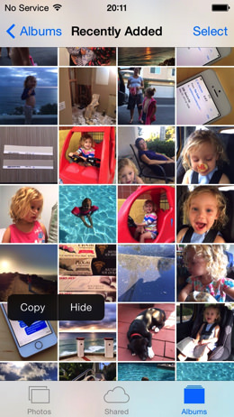 IOS 8 Photos Hide Photo 001
