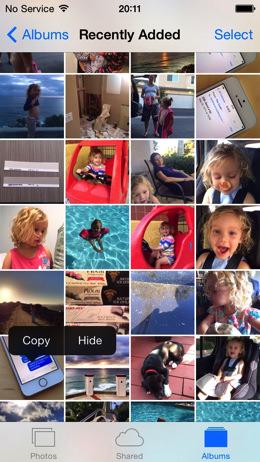 IOS 8 Photos Hide Photo 001