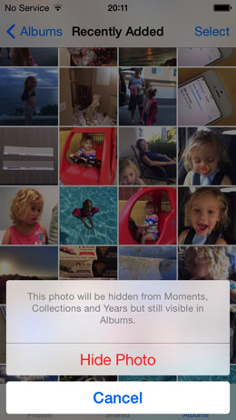 IOS 8 Photos Hide Photo 002