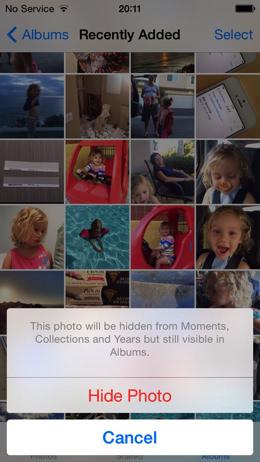 IOS 8 Photos Hide Photo 002