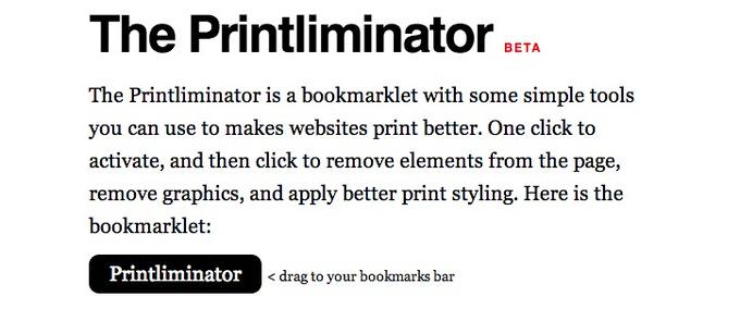 Webservice printliminator