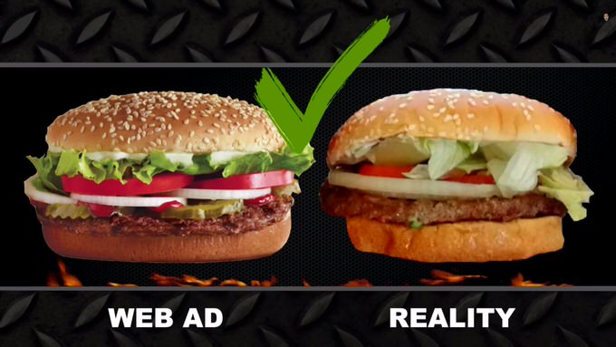 Youtube fastfood ads reality 10