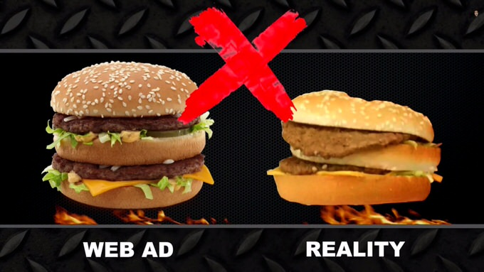 Youtube fastfood ads reality 2