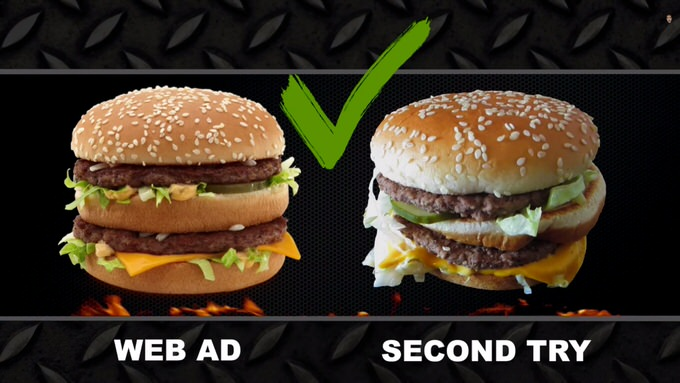Youtube fastfood ads reality 3