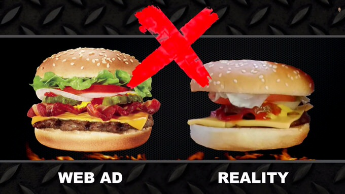 Youtube fastfood ads reality 4