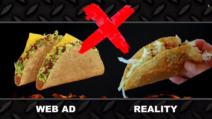 Youtube fastfood ads reality 6