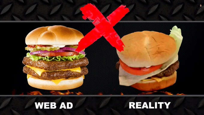 Youtube fastfood ads reality 8