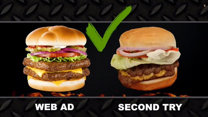 Youtube fastfood ads reality 9