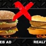 マクドナルドのハンバーガーが写真と違うから作りなおしてもらったら写真通りのが出てきた