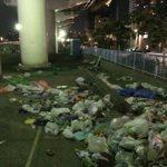 ゴミはちゃんと持ち帰って!隅田川花火大会終了後、大量のゴミが不法投棄され酷い状況に
