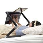人間をダメにするノートパソコン向け「スーパー仰向けゴロ寝デスク」が発売