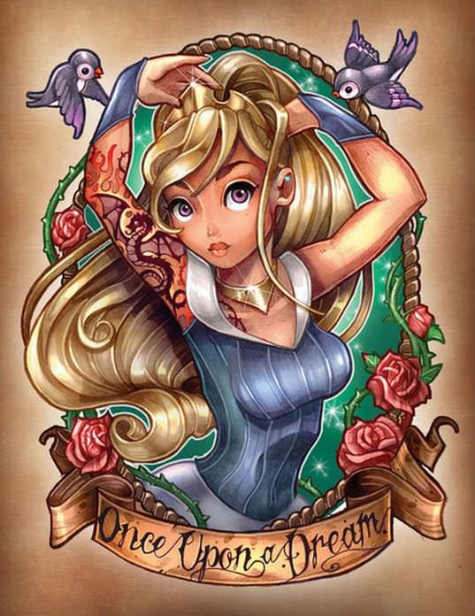 Disney princess pin ups 8