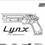 超カッコイイ大人のオモチャ!ステンレス製の輪ゴム銃「Lynx(リンクス)」