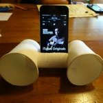 なかなか良い!紙コップとトイレットペーパーの芯で作るiPhone用スピーカーを作ってみた!