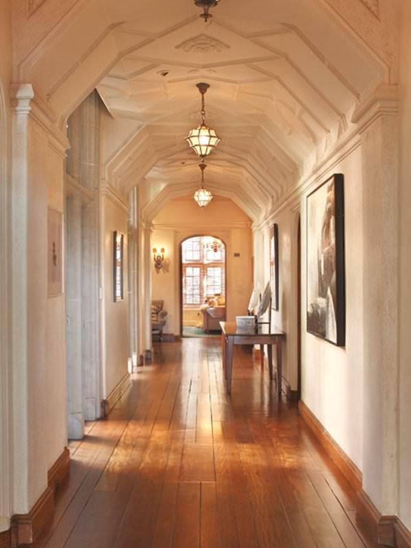 The hallways all have high ceilings