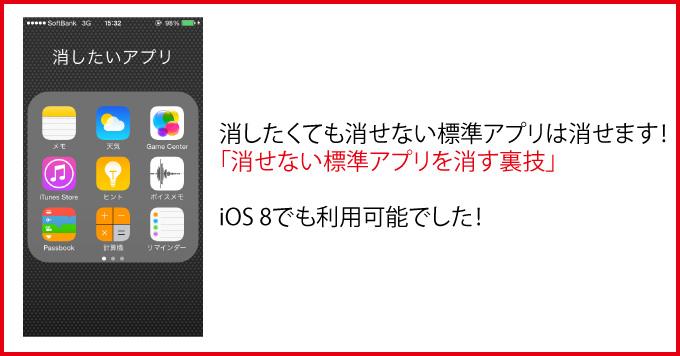 Ios8 default app hide