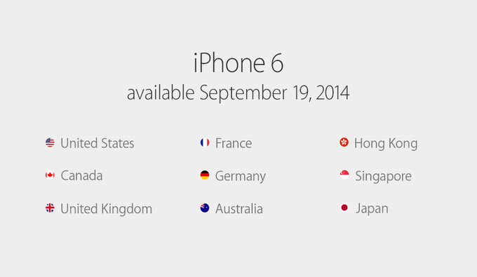 Iphone6 release daate 4