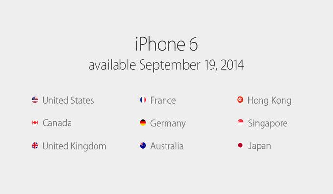 Iphone6 release daate 4
